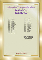 President's cup Print of the year 1989-2015